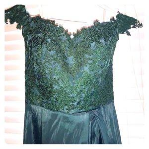 Dresses & Skirts - Long embroidered off the shoulder prom dress